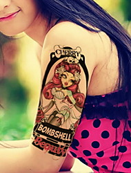 Beautiful Flower Arm Waterproof Flower Arm Temporary Tattoos Stickers Non Toxic Glitter