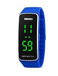Дети Спортивные часы Цифровой LED Календарь Спортивные часы силиконовый Группа Черный Синий Красный Фиолетовый