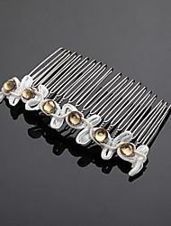 Women's Flower Girl's Alloy Cubic Zirconia Headpiece-Wedding Special Occasion Hair Combs 1 Piece
