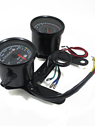 Universal Motorcycle Tachometer Odometer Speedometer Gauge LED Indicator with Bracket