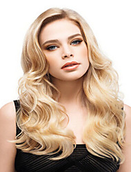 lange manier blonde kleur syntheic wave pruik