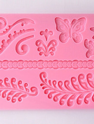 DIY Silicone Flower Cake Mold Chocolate Mold   Random Color