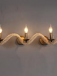 AC 100-240 MAX 40W E12/E14 Rustico/lodge Pittura caratteristica for Stile Mini,Luce ambient Lampade a candela da parete Luce a muro