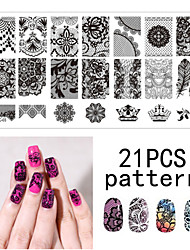 Nail art 1ps joint modèle clou dentelle pattren 12x6cm