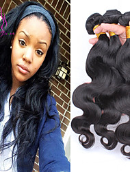 Indian Body Wave 3pcs 7A Unprocessed Indian Virgin Hair 100% Human Hair Weave No Tangle Indian Hair