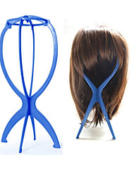 Wig Display Stand Mannequin Dummy Head Hat Cap Hair Holder Folding Stable Tool (blue)