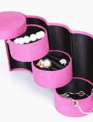 Schmuckbehälter Leder 1 Stück Rosa