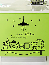 New  Sweet Kitchen Pattern Removable Waterproof Wall Sticker Home Decor Vinyl Wall Decal