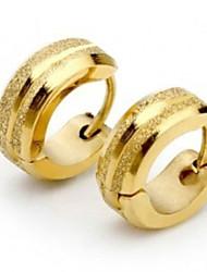 Top Quality Men's Titanium Steel Polised Crystal Earring (1PC,Width:6mm)