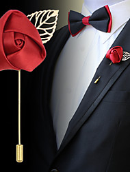 Men's Fashion Long Rose Brooch