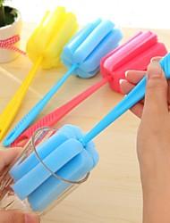 ziqiao limpieza de la cocina rotación de la herramienta pincel potente taza de limpieza con mango largo (colores aleatorios)