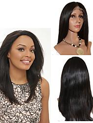 moda vergine brasiliana rettilineo parrucca anteriore del merletto 10inch-30inch groviglio parrucca del merletto libero diritto serico