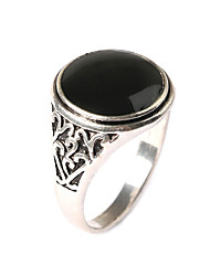 Men's Retro Ethnic style Carved Alloy Jewels Ring 02