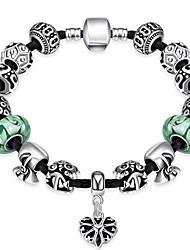 Women jewelryStrand Beads Bracelets Beads Glass Beads Charm Bracelets & Bangles Silver European beads PH015