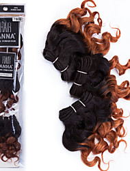Омбре Бразильские волосы Кудрявый 12 месяцев волосы ткет