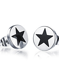 Stud Earrings Platinum Plated Fashion Silver Jewelry Party Daily Casual 2pcs