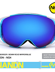 nandn grandes femmes hommes sphériques snowboard sport revo Lunettes de ski double écran anti-buée des lunettes de neige lunettes de ski