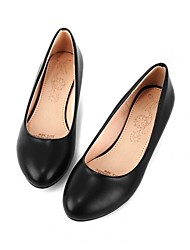 Women's Shoes Leatherette Low Heel Comfort / Ballerina Flats Office & Career / Dress / Casual Black / Blue / Pink /