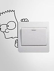 Wall Stickers Wall Decals Style Child Peep Switch Removable PVC Wall Stickers