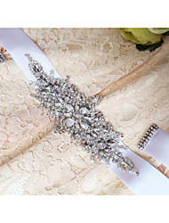 Satin Wedding / Party/ Evening / Dailywear Sash-Sequins / Beading / Rhinestone Women's 98 ½in(250cm) Sequins / Beading / Rhinestone