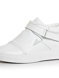 Scarpe Donna - Sneakers alla moda - Tempo libero / Casual - Comoda / Punta arrotondata - Zeppa - Nappa Leather - Nero / Bianco