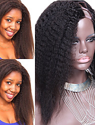 Hot Sale Kinky Straight U Part Wig Malaysian Virgin Human Hair Kinky Straight U Part 1''x4''Inch Left Part Upart Wig