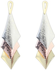 European And American Fashion Personality Pyramid Fashion Style Diamond-shaped Metal Drop Earrings