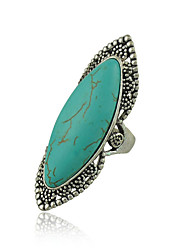 New Unique Design Vintage Silver Plated Turquoise Rings for Woman Jewelry