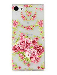 Rose Pattern TPU Relief Back Cover Case for Sony Z5mini
