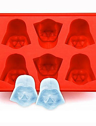 Silicone  Darth Vader Ice Cube Tray Mold Cookies Chocolate Soap Baking Kitchen Tool