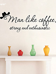 AWOO® Coffee Wall Sticker DIY Home Decorations Quotes Vinyl Wall Decals Wall Mural Art