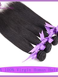 Индийская девственные наращивание волос 3шт / много индийских человеческих волос дешево высокое качество толщиной человеческого волоса