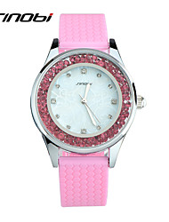 Women's Fashion Watch Casual Watch Quartz Water Resistant / Water Proof Silicone Band Pink Brand SINOBI
