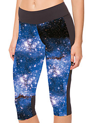 Woman Seven Blue Printing Tight Yoga Pants