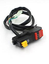 """moto iztoss 7/8 """"support de guidon bouton marche / arrêt de l'interrupteur DC 12V / 10a pour moto corne de brume une ampoule de phare"""
