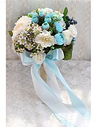 Wedding Flowers Elegant Bride Round Roses / Peonies Bouquets