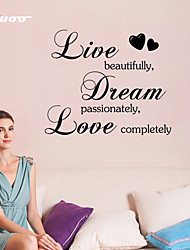 AWOO® New Live Dream Love  Wall Sticker  Group On Behalf Of English customization