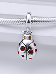 Sterling Silver Bead  S925  Silver Dangle  for European Charm Silver Bracelets Beetle