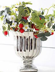 Simulation Flowers Strawberry  Fruit Ornamental Flowers Simulation Flower Artificial Flower