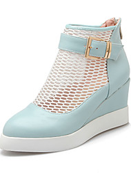 Women's Spring / Summer Wedges / Novelty / Gladiator / Pointed Toe Fleece / Leatherette Office & Career / Dress / Casual / Party & Evening