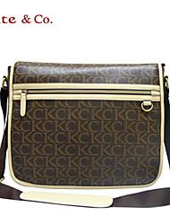 Kate & Co.® Feminino PVC Bolsa de Ombro Cinza - TH-02234