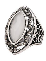 Women's Luxury Palace Style Opal Alloy Diamond Ring