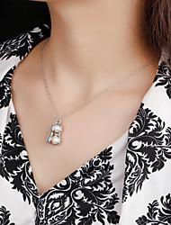 Peanut pearl pendant Pendant Necklace 925 sterling silver jewelry jewelry women