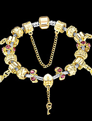 Fashion jewelry Strand Beads Bracelets Beads Glass Beads Charm Bracelets 18K Gold European beads for women PH025