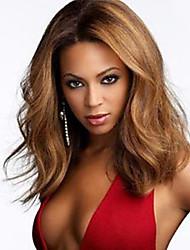 femmes brésiliennes couleur de cheveux vierges (brun # 1 # 1b # 2 # 4) perruques dentelle de vague de corps avant