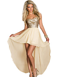 Women's Strapless Aysmmetrical Dress
