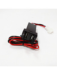 2015 Hot Sale TOYOTA Dual USB Car Charger.High Quality (USE FOR NEW TOYOTA)