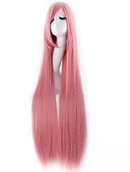 Long cartoon 100cm High Temperature Wire Cosplay Female Wig Pink Synthetic Wigs
