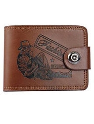 Men PU / Cowhide Bi-fold Wallet / Clip