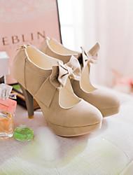 Chaussures Femme - Extérieure / Bureau & Travail / Décontracté - Noir / Rouge / Amande - Talon Aiguille - Talons - Talons - Similicuir